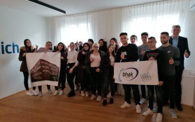 Besuch der Filiale der Erste Bank der österreichischen Sparkassen AG am Keplerplatz